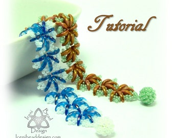Pdf Tutorial Crescent Lace Bracelet with Crescent Beads.  Pattern, Instructions. English Only,