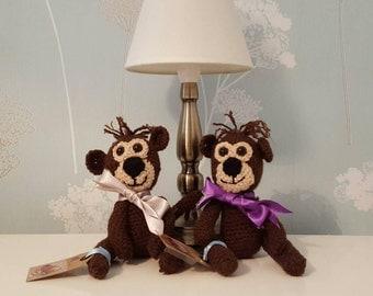 Amigurumi soft toy monkeys