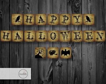 Happy Halloween Banner / Printable / Digital / Instant Download / DIY Party