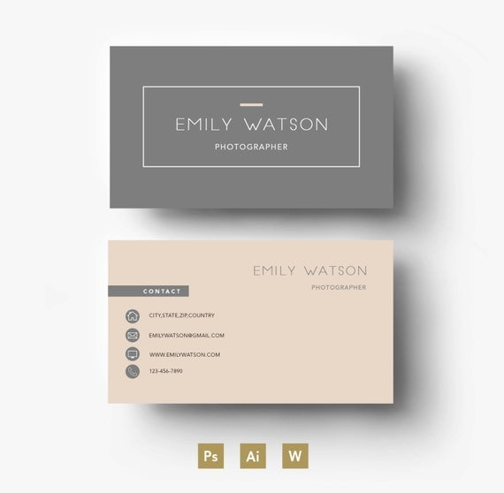 business card template easy editable psd template fonts. Black Bedroom Furniture Sets. Home Design Ideas