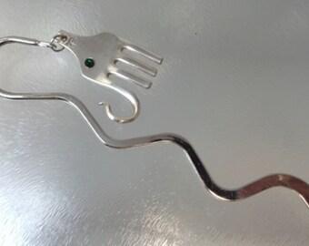 Elephant Bookmark| fork bookmark|  upclycled bookmark|  silverware bookmark, elephant lovers gift, silverware elephant, book lover gift