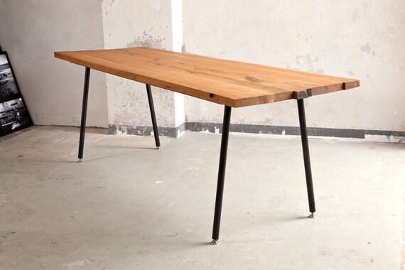 tisch esstisch konferenztisch aus eichenholz und stahl, Esstisch ideennn