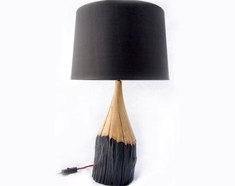 """Solid Hornbeam """"Pencil"""" Lamp"""