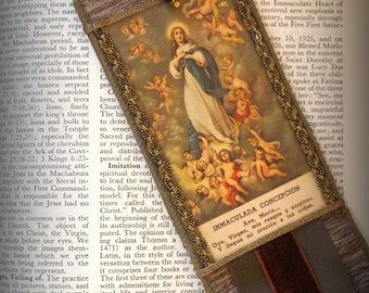 Bookmark Immaculate Conception Antique Holy Card Catholic Gifts