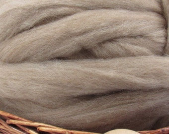Oatmeal Tasmanian Polwarth Carded Sliver Wool Roving- Undyed Natural Spinning & Felting Fiber / 1oz