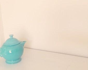 Turquiose Fiesta Art Deco Tea Pot