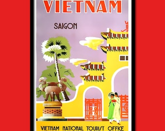 Vietnam Travel Print - Vietnamese Poster Travel Wall Decor Vietnam Poster Saigon Vietnamese Prints Travel Wall Decor  t