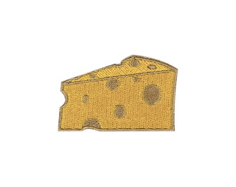 Cheese Wedge Emoji Embroidered Iron On Patch - FREE SHIPPING