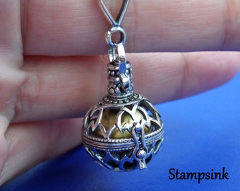 Mexican Bola, Harmony Ball, Angel Caller, Pregnancy Gift, Pregnancy Necklace, Baby Shower Gift, Musical Chime, Maternity Necklace, Stampsink
