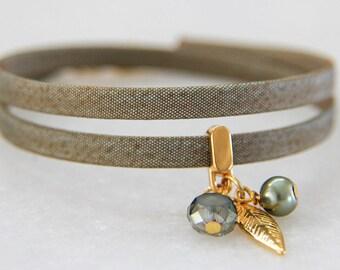 Black bracelet, Green bracelet, Pink bracelet, Gold bracelet, Cord bracelet, Charm bracelet,  Fashion bracelet, Autumn bracelet, Accessory