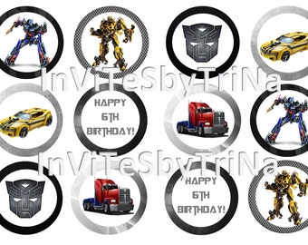 Transformers Cupcake Toppers