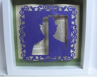 A Picture of Dorian Gray Oscar Wilde framed paper art. Papercutting. Book lovers gift.