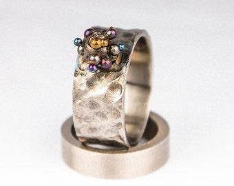 Goloka. Titanium ring. 2014