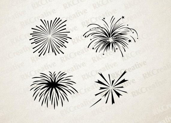 Fourth Of July Svg File Celebration Fireworks Svg File