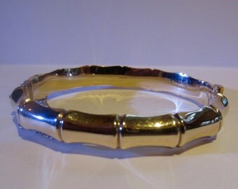9ct gold vintage bangle from the 1920'