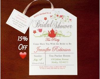 Take 15% off Tea Party Bridal Shower Invitation