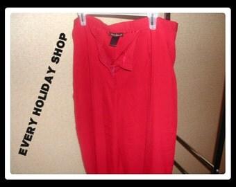 Women's Ashley Stewart Burgundy Red Pants, Brick Red, Slacks, Dress Pants, Size 15, Womens Plus Size Fashion Clothing