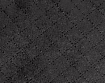 Laser quilted faux leather