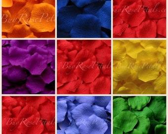 Rainbow Blend Rose Petals - 1,000 Silk Rose Petals for Weddings