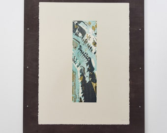 "Handmade Woodblock Print - ""Degrade"""