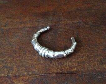 Vintage Handmade Sterling Silver Bangle Bracelet