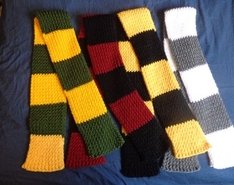 Striped Knit Scarf - Customizable Colors!