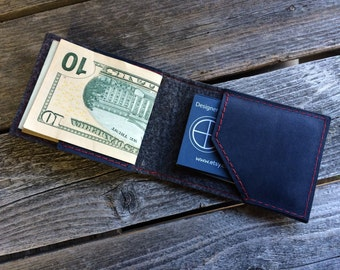 NAVY BIFOLD WALLET