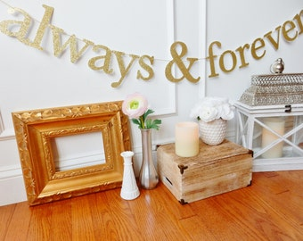 Always & Forever Wedding Banner