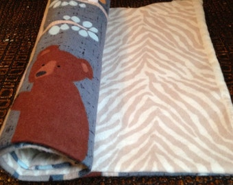 Woodland Burp Cloth