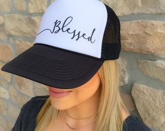 Blessed adult trucker hat