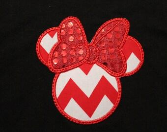 Minnie Mouse Applique T-shirt