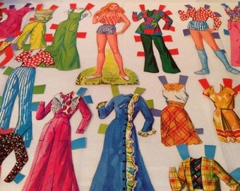 """PAPER-DOLL """"Kelly"""" with 19 OUTFITS!!! Mattel 1975 Yellowstone"""
