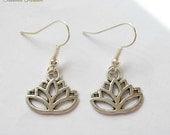 Lotus Flower Earrings Silver earrings Lotus Blossom Meditation Zen Yoga Jewellery Flower Charms