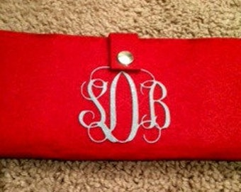 Red Personalized Coupon Wallet