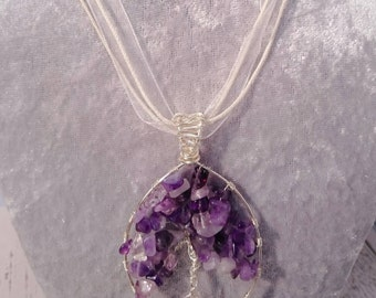Beautiful Amethyst Tree of Life necklace