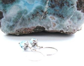 SALE Chic AAA Blue Topaz Earrings, Luxe Earrings, Sterling Silver Earrings, Elegant, Feminine, Special Jewelry Gift For Her,  READY To Ship