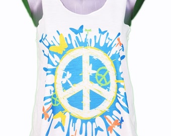 top peace & love / / peace and love tank-top