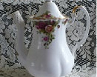 SALE Old Country Rose Coffee Pot