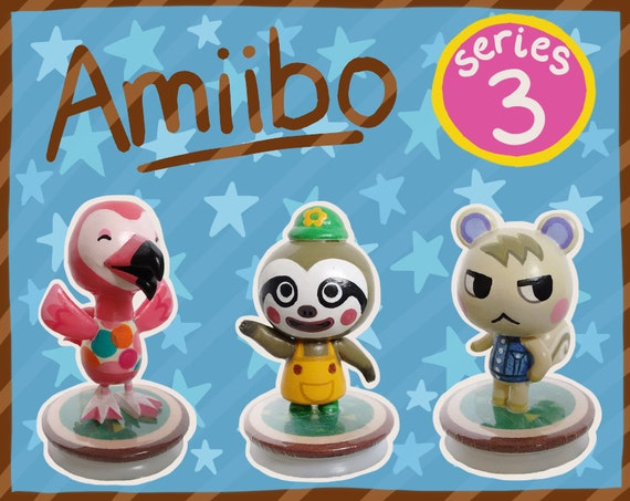 Series 3 Animal Crossing Amiibo Figures By Shopbhawk On Etsy