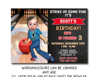 bowling invitation printable, teen birthday invitation, bowling birthday party invitation, bowling party invitation, bowling birthday invite