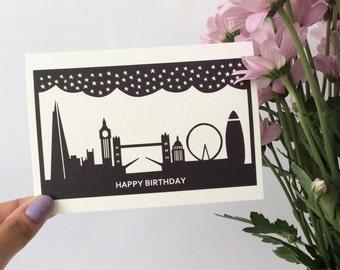 London Skyline Papercut Card