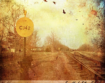 Fine Art Grunge Landscape Canvas Print Photography
