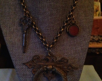 Upcycled Vintage Hardware Necklace