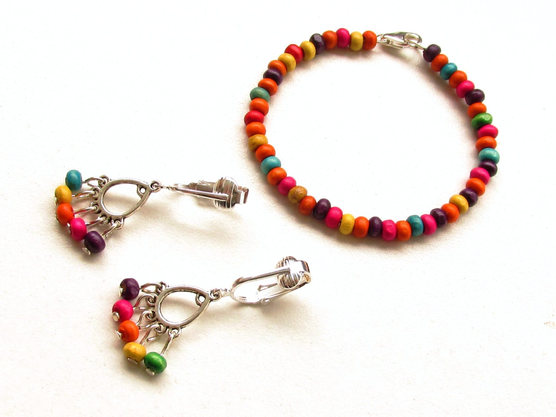 little girl jewelry rainbow multi color bracelet by. Black Bedroom Furniture Sets. Home Design Ideas