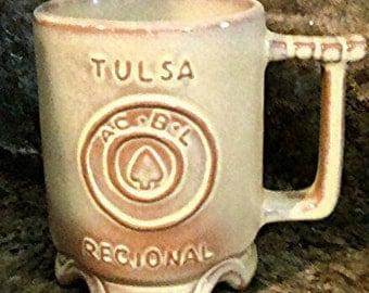 Frankoma desert gold Oklahoma Tulsa regional mug