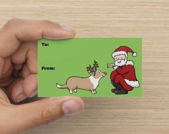 2015 Corgi Holiday Gift Tags