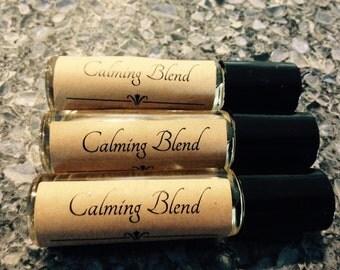 Calming Blend, Essential Oil Rollerball Bottle Blend, 10 mL