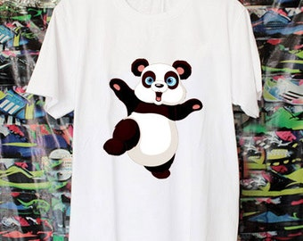 Cute Panda doing martial art Shirt available for Youth and Adult Men and Women T-shirt