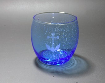 Limited Edition Feeling Nauti Water Glass - Nautical Water Glass - Feeling Nauti - Nautical Humor Glass
