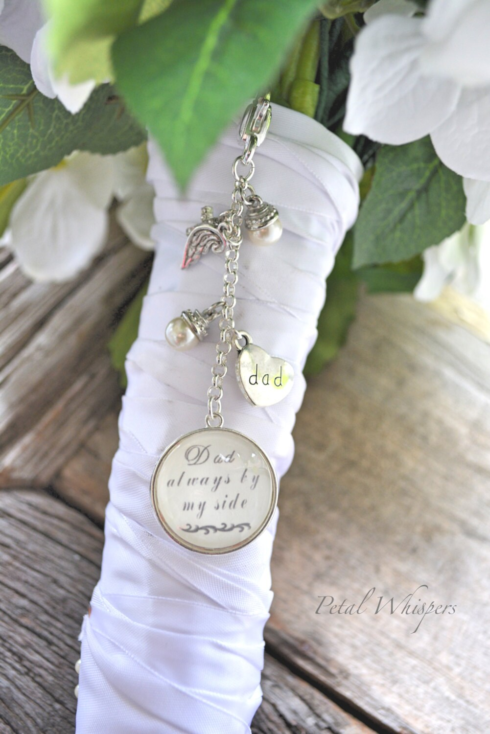 wedding bouquet charm bridal bouquet memorial charm bouquet